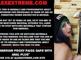 Anal warrior proxy paige gape plug...