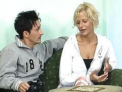 Young Conny Dachs talks a hot blonde girl into sex