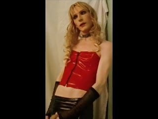 pvc latex tranny slut sandra