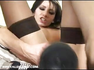 Vicky swallows dildo with her dripping wet pussy...