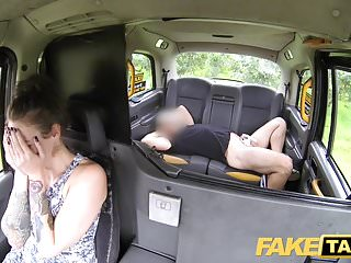 Pretend Taxi Rainy white panties in her mouth and fucked laborious