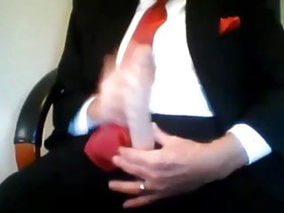 Bradwaring Big cock suit daddy stroking on cam compilation