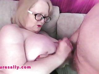 Huge tits wanking of her boyfriend...