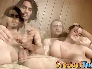 Rasta man sucking on a stoner dudes hard...