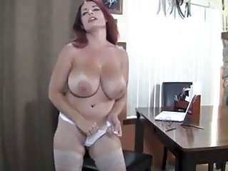 Mom in stockings with giant titties