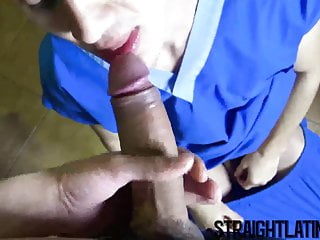 Young latino takes in his tight ass...