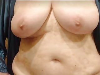 her huge showing Adorable is grandma boobs