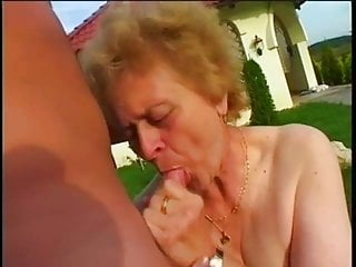 old grandma and young man having sex in the gardenPorn Videos