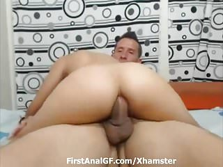 Bitch anal ride on all way on livecam...