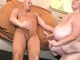 BBW with giant tits sucking and fucking