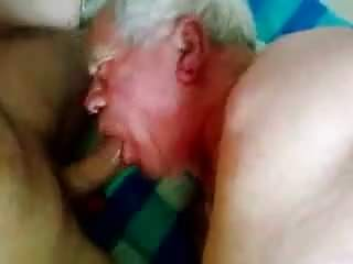 Mature silver sucking a nice cock...