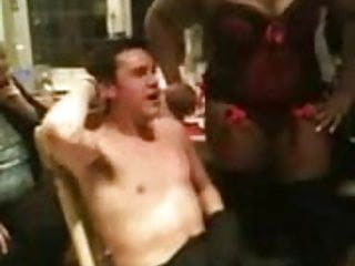 Guy gets a nipple-licking-good stripper for his 21st
