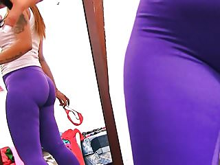 BIG ASS In Tight SPANDEX MAID has Sexy Cameltoe n Big Tits