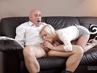 DADDY4K. Handsome and rich dad of boyfriend fucks his pretty