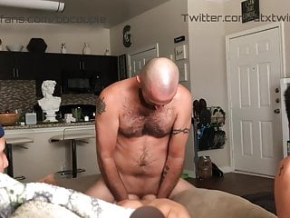 Twink gets tag teamed&DP'd and creampie x2 while bf watches!