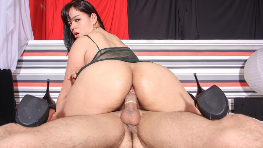 LETSDOEIT - Big Ass GF Surprised BF with Anal Sex