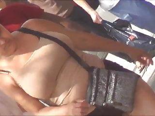 Latina Milf With Huge Rack Tan Tank Top
