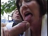 MATURE FRENCH MAID GET FUCKED BY 2 HUGE COCKS