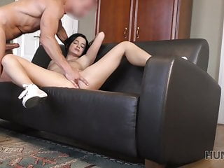 HUNT4K. Dark-haired slut worships cock for superior amount