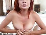 1000Facials Redhead MILF with a big pussy gets a facial
