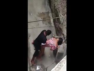 caught gorgeous teen couple fucking in public – voyeur intercourse