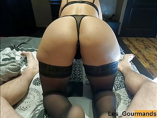 horny milf in lingerie obtains doggystyle & cum filled her vagina