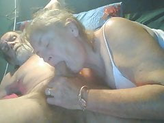 My girl playing an sucking cock while i eat pussy.