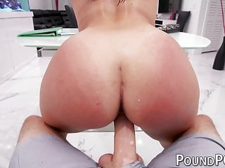 Big ass babe Mona Azar ball licking big cock deepthroat