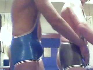 Wrestling frottage...