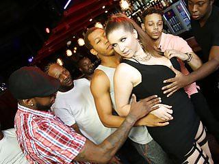 Slut alex chance does interracial ganbang...