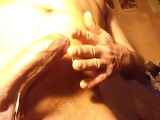 Hard cock swollen balls huge cumshot for japanese moaning
