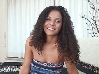 Curly Brunette Hardcore Like A Pro For The First Time