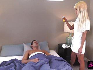 Nurse riding patients after fellatio...
