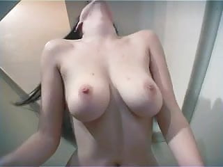 British amateur plays with her big tits 5