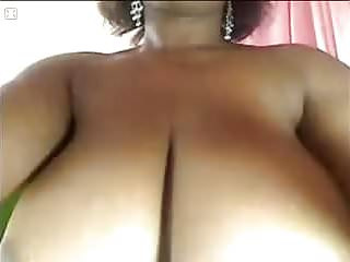 Boobs get squeezed on cam...