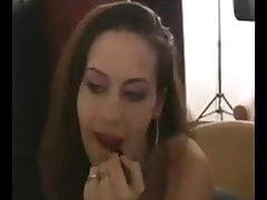 Elizabeth Douglas giving my boyfriend a smoking blow job.