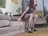 Amateur girl gets filmed while dressing