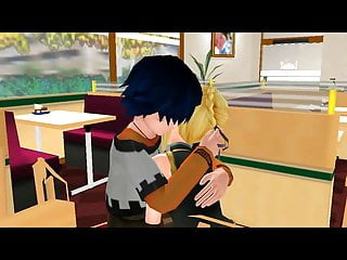 teen restaurant gets Innocent hentai a fuck in blonde