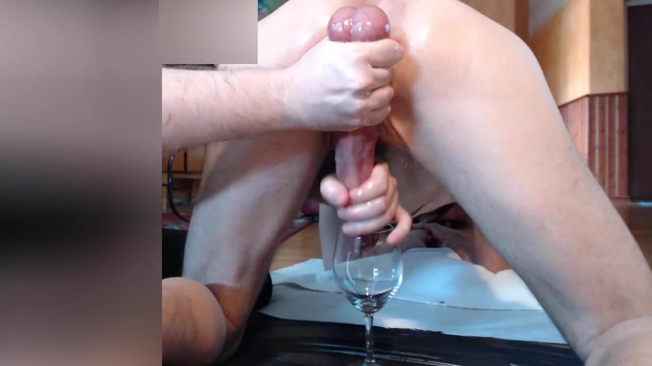 huge amateur cock cum on me