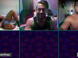 Six Men Get Together On A Video Call Some Fuck Their Holes
