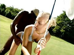 Silvia's special golf lesson