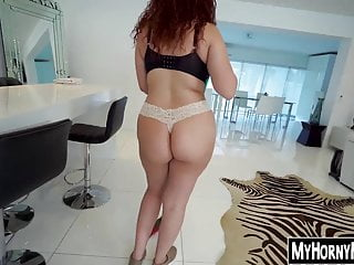 Redhead housekeeper earning some cash on the side