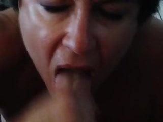Mature Big Titted Wife Sucking Out Cum