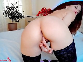 Babe licks fuck pussy dildo amateur in different...