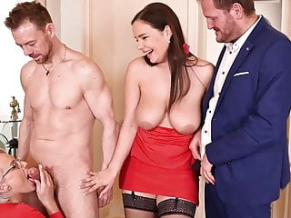Two {couples} had top-notch intercourse