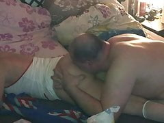 Techno milf ass, pussy licked and gefickt until she pisses