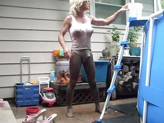 Amateur Shemale Big Tits Shemale Lingerie Shemale video: mud clean up