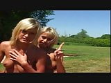 lucky man gets to fuck two hungry blondes