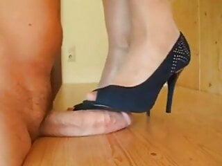 Blue high heels cum