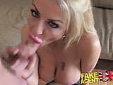 FakeAgentUK Hard office fucking for sexy blonde scouser